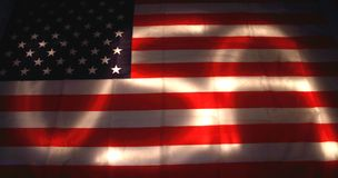 USA flag in the dark Stock Image