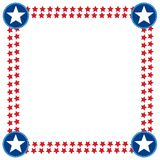 USA flag stars decoration frame border. royalty free stock image