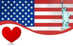 USA Flag Design Stock Images