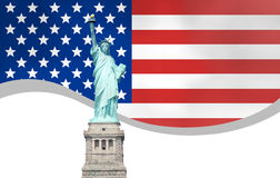 USA Flag Design Royalty Free Stock Images