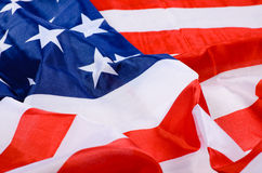 USA flag detail stock photo