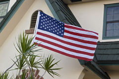 Usa flag on display Royalty Free Stock Photos