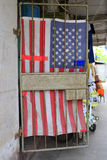 Usa flag door curtain Stock Image