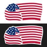USA flag with eagle vector illustration