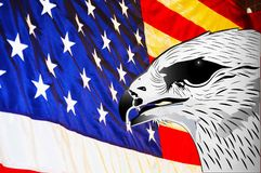 USA flag and eagle symbol background illustration. USA flag and eagle symbol background illustration   picture template image Stock Image