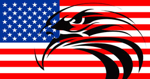 Usa flag eagle tattoo Royalty Free Stock Photos