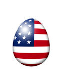 Usa flag egg isolated over white Stock Image