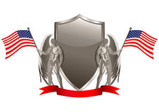 USA Flag Emblem Stock Photography