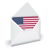 USA flag in envelope Royalty Free Stock Images
