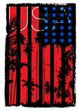 USA Flag. Fashion style art Stock Photography