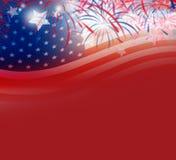 USA flag with firework background design. USA flag with firework background for design work Royalty Free Stock Image