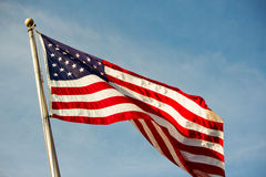 USA flag  fluttering Royalty Free Stock Image