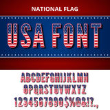USA flag font Royalty Free Stock Image