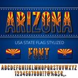 USA flag font Stock Image