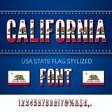 USA flag font Royalty Free Stock Photo