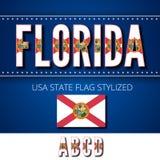 USA flag font Royalty Free Stock Image