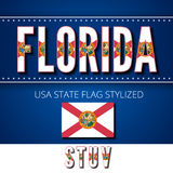 USA flag font Royalty Free Stock Images