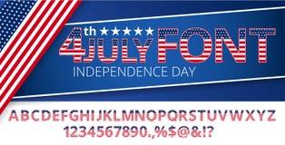 USA flag font Royalty Free Stock Photography