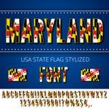 USA flag font Stock Photos