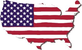USA Flag in the form of maps of the United States Stock Images
