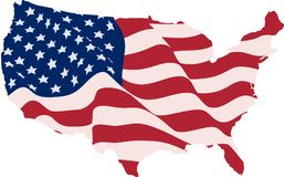 USA Flag in the form of maps of the United States Royalty Free Stock Photos
