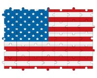 USA flag in form of puzzle royalty free stock images