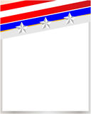 USA flag frame royalty free stock images