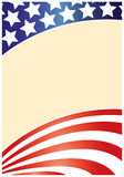 USA flag frame wave pattern royalty free stock images