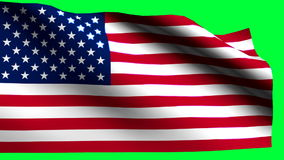 Usa flag green back. HD 1080i stock video