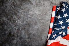 USA flag on grey background Royalty Free Stock Image