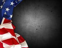 USA flag on grey stock photos