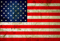 USA flag. Grunge USA flag background Stock Image