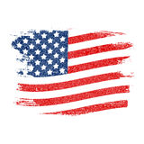 USA Flag Grunge Background. Can Be Used as Banner or Poster. Vec. Tor Illustration EPS10 Stock Images