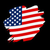 USA Flag Grunge Background. Can Be Used as Banner or Poster. Vec. Tor Illustration EPS10 Stock Photo