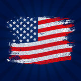USA Flag Grunge Background. Can Be Used as Banner or Poster. Vec. Tor Illustration EPS10 Royalty Free Stock Photos