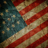 USA flag. Grunge crumpled paper USA flag Royalty Free Stock Photography