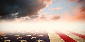 Composite image of usa flag in grunge effect Stock Images
