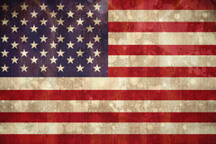 Usa flag in grunge effect Stock Image