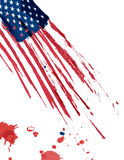 USA flag in grunge. Royalty Free Stock Images