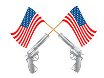 USA FLAG AND GUNS Royalty Free Stock Image