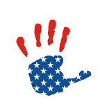Usa flag hand Stock Photography