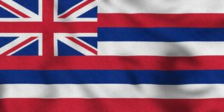 USA Flag of Hawaii gently waving in the wind royalty free illustration