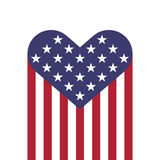 USA flag hearts shape. Vector illustration for Independence Day, Memorial Day or others Royalty Free Stock Images