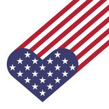 USA flag hearts shape. Vector illustration for Independence Day, Memorial Day or others Stock Photos