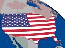 USA with flag Stock Photo