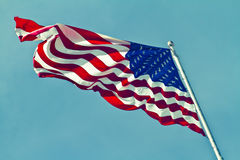 USA Flag Horizontal Stock Photography