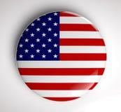 USA flag icon Stock Photography