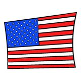 USA flag icon cartoon Royalty Free Stock Photography