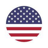 USA flag icon vector isolate print illustration royalty free illustration