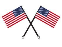 USA flag icon Stock Photo